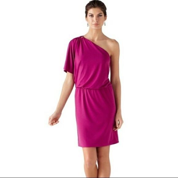 White House Black Market Dresses & Skirts - WHBM Pink Off Shoulder Dress Size 2